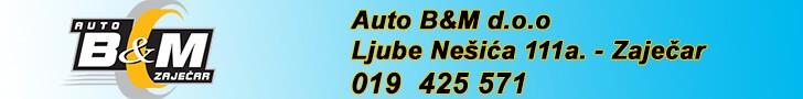 Auto B&M d.o.o. Zaječar registracija vozila