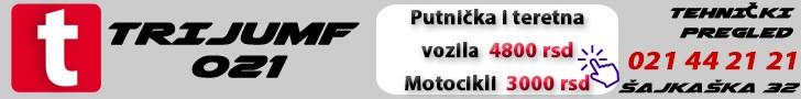 trijumf 021 tehnički pregled Novi Sad
